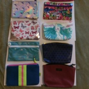 Ipsy cosmetic bags , new never used. 10 total.